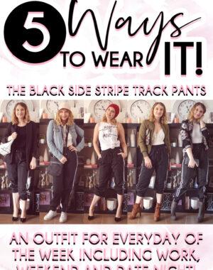 5 Way to Wear It (Black Trackpants) Pinterest